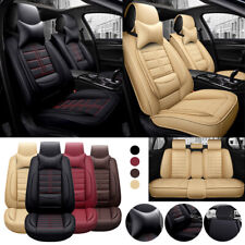 Universal 2019 Deluxe 5-Seats SUV Car Seat Cover Breathable Cushion PU