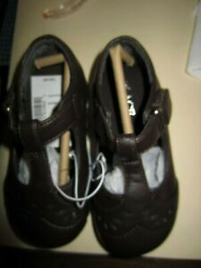 The Children Place Girls Leather Brown Shoes Size 7