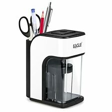 Eagle Electric Pencil Sharpener Heavy Duty Helical Blade Auto Stop Safety