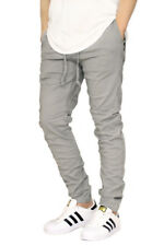 MEN'S TWILL SKINNY CHINO JOGGER PANTS SIZE S-4XL VICTORIOUS BIKER