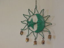 Antique Finish Metal  Turquoise Heavens Wind Chime