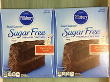 2 Pillsbury Moist Supreme Sugar Free Devil's Food Premium Cake Mix 16 oz ea