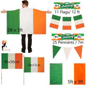 St. Patrick's Day Republic of Ireland Irish flag Bunting Cape Party Celebration