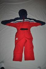 CABELA'S BOYS 6 INSULATED RED SNOW SKI SUIT HUNT HOODED COVERALLS VGC