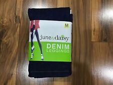 NWT Women's June & Daisy Denim Leggings Size Medium Dark Denim #542G