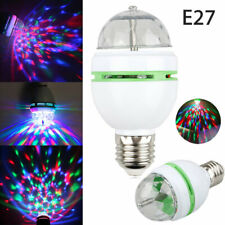 E27 3W Colorful Auto Rotating RGB LED Bulb Party Light Stage DJ Ball Dance Lamp