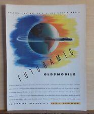 1947 magazine ad for Oldsmobile - Oldsmobile races around the Earth, Golden Era