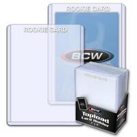 25 BCW 3x4 ROOKIE CARD WHITE IMPRINT RIGID HARD PLASTIC HOLDERS 3 X 4