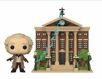 Funko Pop! Town: Back to the Future - Doc with Clock Tower Figure NEW IN HAND