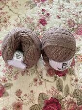 Lot of 2 Master Alpaca Fine #2 Camel Melange yarn