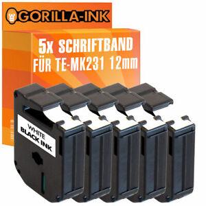 5x Beschriftungsband für Brother P-Touch 80 85 90 BB4 M95 MK-231