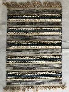 2x3 Rectangle RUG Dhurrie Jute Kitchen FLOOR Mat Door Table Multi Color 60x90cms