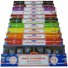 3 or 12 Pack Box Satya Genuine Nag Champa Incense Sticks Joss (mixed scents)