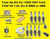 FILTERS 04-09 SPECTRA /& SPECTRA 5 TUNE UP KITS SPARK PLUGS WIRE SET BELT /& ENG