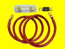 FORD CHEVY HIGH OUTPUT ALTERNATOR FUSE BLOCK WIRING KIT - HEAVY DUTY 0 GAUGE