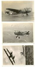 NEDERLAND LUCHTVAART AVIATION   3 x FOTO  PPC  PLANES FOKKER  VF   @3