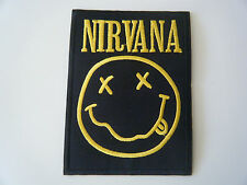 NIRVANA PATCH Happy Smiley Face Embroidered Iron On Badge Melvins Mudhoney NEW