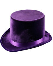 Purple Velvet Top Hat One Size