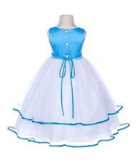 Rhinestones Satin Flower girl dresses Tulle Pageant Toddler Summer Occasion 115R