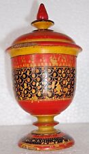 Vintage Tribal Handmade Wooden Cup Shape Small Box Hand Paint Tribal Wooden Box