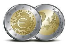 """Nederland 2 euro """"10 jaar euro"""" 2012 UNC Commemorative/Herdenking ,zo uit de rol"""