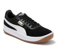 Puma California Casual Black White Leather 366608 06 Mens Sneakers