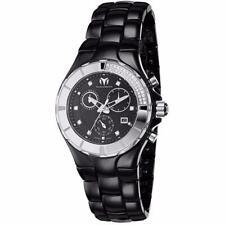 Technomarine Cruise Chronograph Diamond Bezel Black Ceramic Watch 110029C