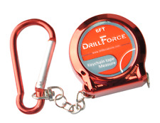 """DRILLFORCE Keychain Tape Measure 6FT Inches, by 1/8"""" Tape Measure."""