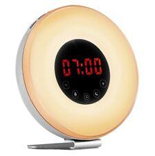 Alarm Clock Wake up Light, Sunrise Sunset Simulator Digital LED Electronic Alar