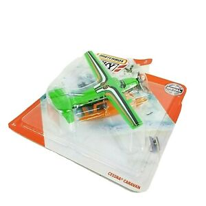 Matchbox 2019 Sky Busters CESSNA CARAVAN Die-Cast Airplane #8 Green - NEW