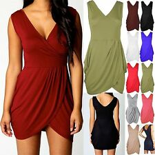 Unbranded V Neck Tunic Sleeveless Dresses for Women