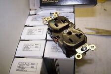 (10) New Leviton Brown HOSPITAL Receptacle Outlet NEMA 5-20R 20A 8300 LOT OF 10