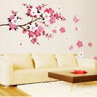 Pink Flowers Removable Vinyl Decal Wall Sticker Mural Diy Art Room Home Decor Ez