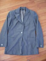 Grey lined polyester/viscose jacket from Pied À Terre, Size 8
