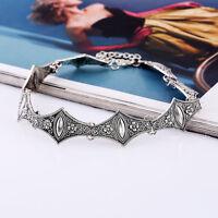 Boho Vintage Halskette Blogger Statement Kette Collier Halsband Schmuck Damen.