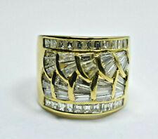 "GIA $7K Diamond 4.32ct VS-G Cocktail Ring XL .65"" Wide Band 13g 18K Gold Sz 8.5"