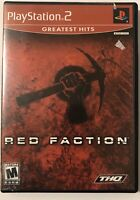 Red Faction Greatest Hits (Sony PlayStation 2, 2002) PS2, Complete