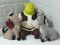 Shrek ever after  Soft Toy Stuffed Plush Bundle Ogre, Donkey, dragon .