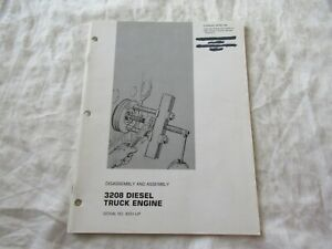 1975 CAT Caterpillar 3208 truck engine assembly and disassembly service manual