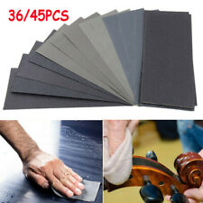 36/45x Mixed Wet and Dry Waterproof Sandpaper 120-5000 Grit Sheets Assorted Wood