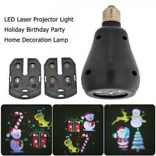 E27 Christmas Pattern LED Laser Projector Colorful Rotating Stage Lamp Bulb