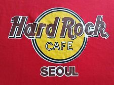 Hard Rock Cafe Seoul Sachers Casual Wear Men's Red Logo Graphic Tee Shirt Size L