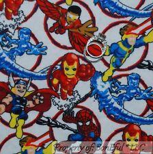 BonEful Fabric FQ Flannel Cotton Red Blue Ice Iron*Man Spider Super Hero Marvel