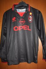 Maglia Shirt Maillot Camiseta Trikot AC Milan Lotto Opel Nera Ragazzo