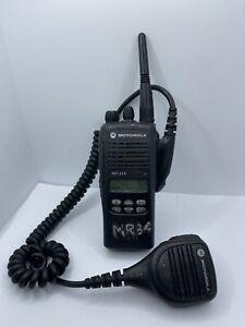 Motorola HT1250 Portable Two-Way Radio - W/ Antenna + Mic (No Charger)