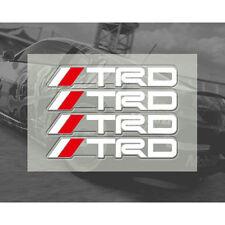 4 PC Blanco Manija de la puerta de la etiqueta engomada Racing Insignia Trd Para MR2 AURIS PRIUS YARIS