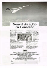 PUBLICITE ADVERTISING 094  1996  TMR   NOUVEL AN en CONCORE A RIO  avions