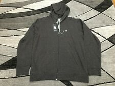 New Nixon Village Full-Zip Hoodie Sweatshirt Mens Size Large Black S2690