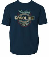 T Shirt Motor Oil Car Gasoline Vintage Racing Biker Motorcycle Tee Motors S-3XL