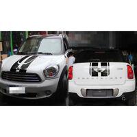 For Mini Cooper Carbon Fiber Car Sticker Trim Remodel Decor Wing Emblem